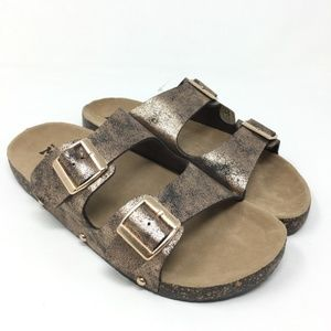 Mudd Copper Double Buckle Slip on Sandal